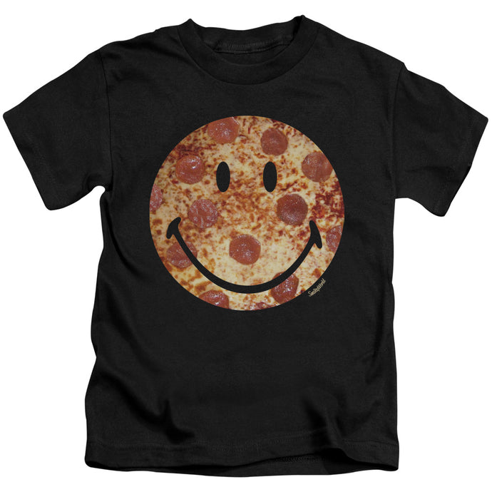Smiley World - Pizza Face Short Sleeve Juvenile 18/1 Tee - Special Holiday Gift
