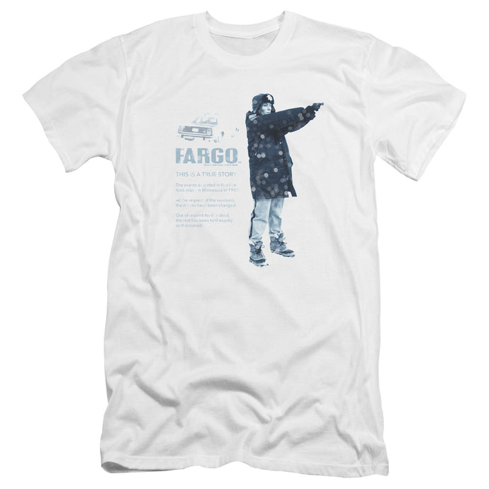 Fargo - This Is A True Story Premium Canvas Adult Slim Fit 30/1 - Special Holiday Gift