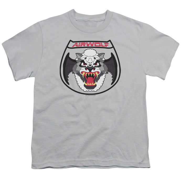 Airwolf - Patch Short Sleeve Youth 18/1 Tee - Special Holiday Gift