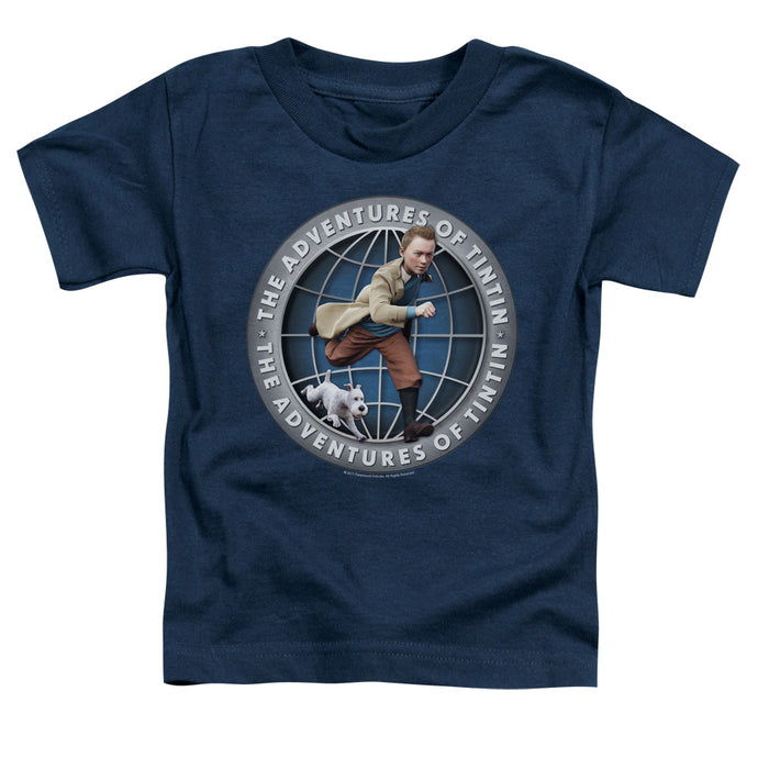 Tintin - Globe Short Sleeve Toddler Tee - Special Holiday Gift
