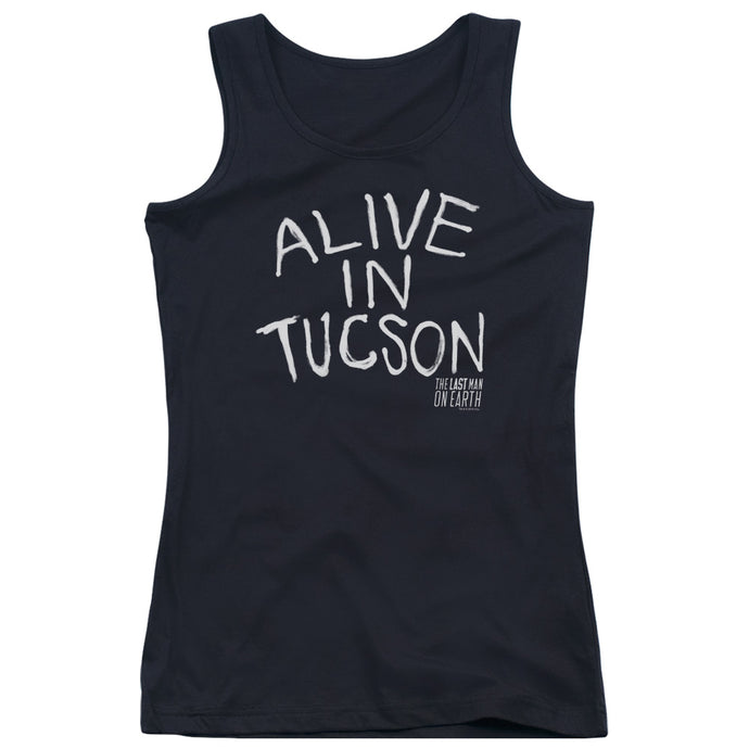Last Man On Earth - Alive In Tucson Juniors Tank Top - Special Holiday Gift
