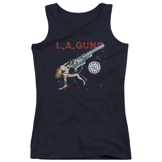 La Guns - Cocked And Loaded Juniors Tank Top - Special Holiday Gift