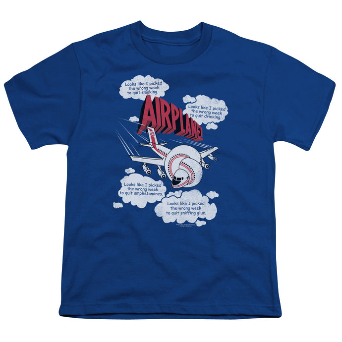 Airplane - Picked The Wrong Day Short Sleeve Youth 18/1 Tee - Special Holiday Gift