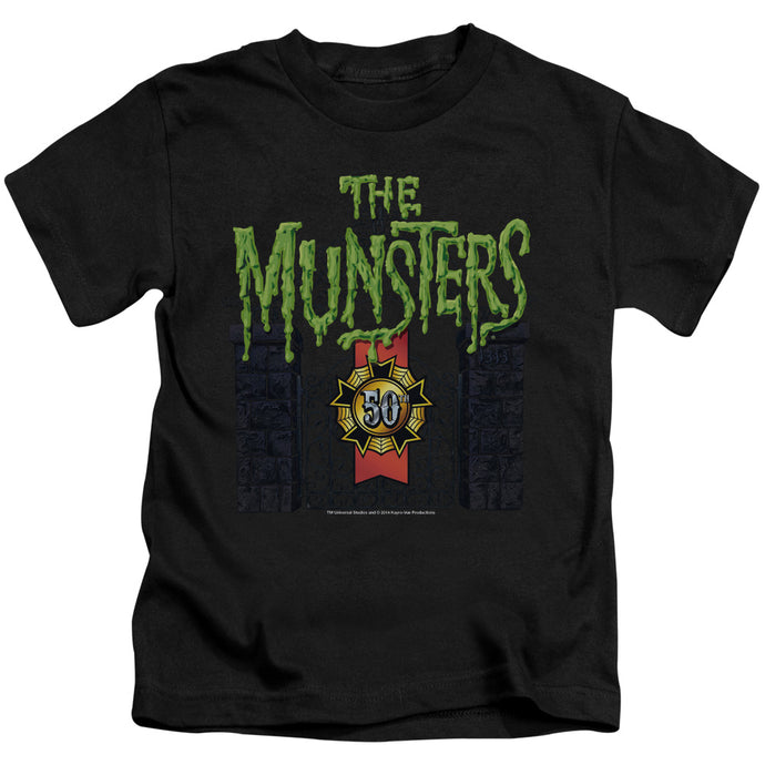The Munsters - 50 Year Logo Short Sleeve Juvenile 18/1 Tee - Special Holiday Gift