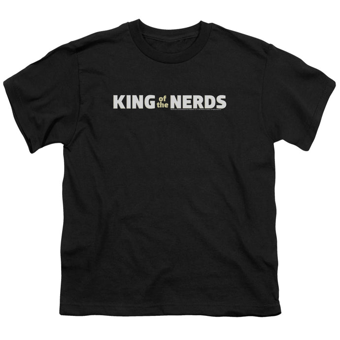 King Of The Nerds - Horizontal Logo Short Sleeve Youth 18/1 Tee - Special Holiday Gift