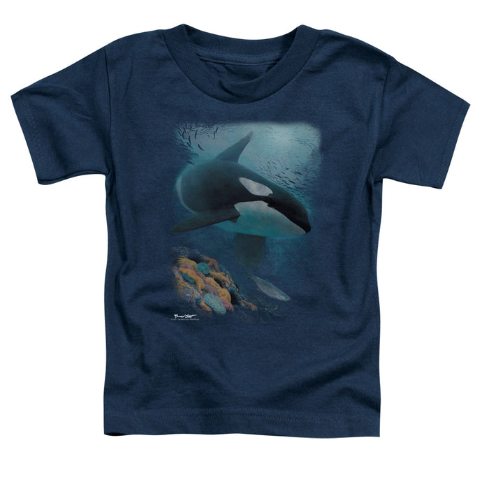 Wildlife - Salmon Hunter Orca Short Sleeve Toddler Tee - Special Holiday Gift