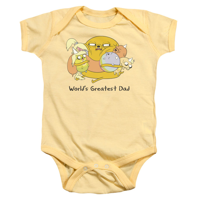 Adventure Time - Worlds Greatest Dad Infant Snapsuit - Special Holiday Gift