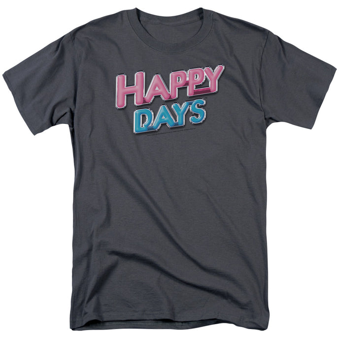 Happy Days - Happy Days Logo Short Sleeve Adult 18/1 Tee - Special Holiday Gift