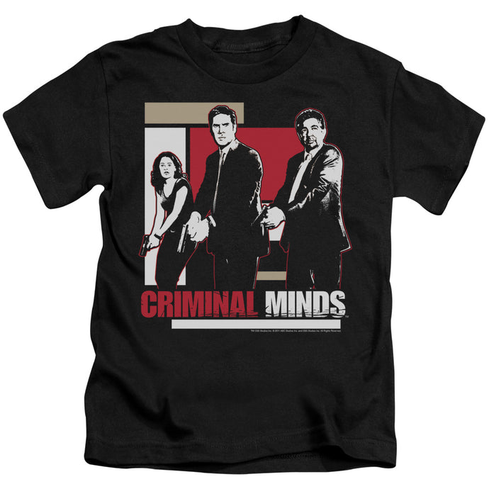 Criminal Minds - Guns Drawn Short Sleeve Juvenile 18/1 Tee - Special Holiday Gift