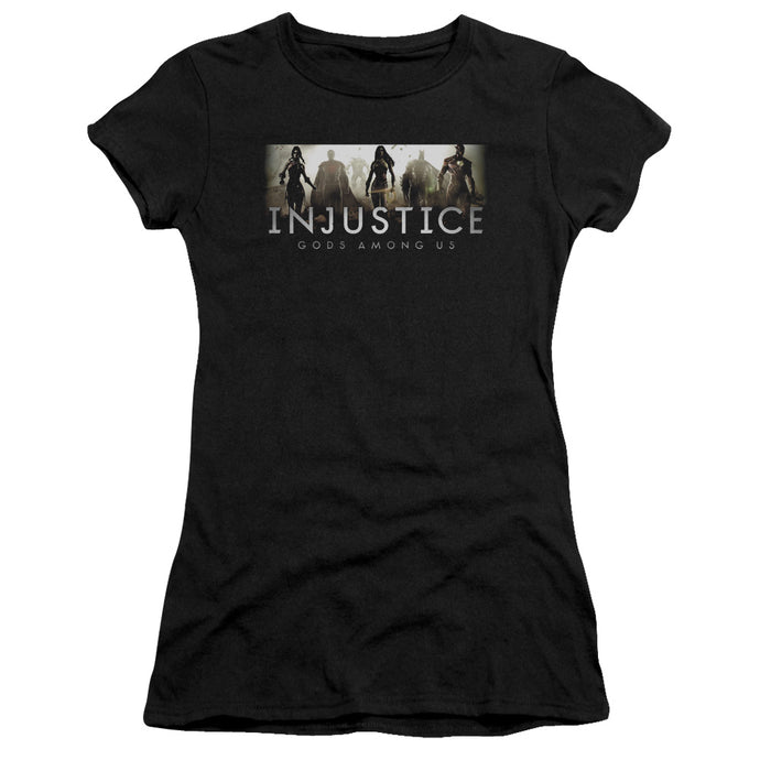 Injustice Gods Among Us - Logo Short Sleeve Junior Sheer - Special Holiday Gift