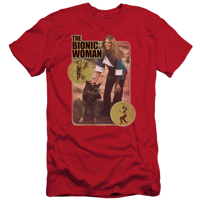 Bionic Woman - Jamie And Max Short Sleeve Adult 30/1 Tee - Special Holiday Gift