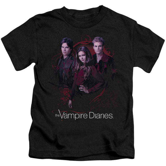 Vampire Diaries - Company Of Three Short Sleeve Juvenile 18/1 Tee - Special Holiday Gift