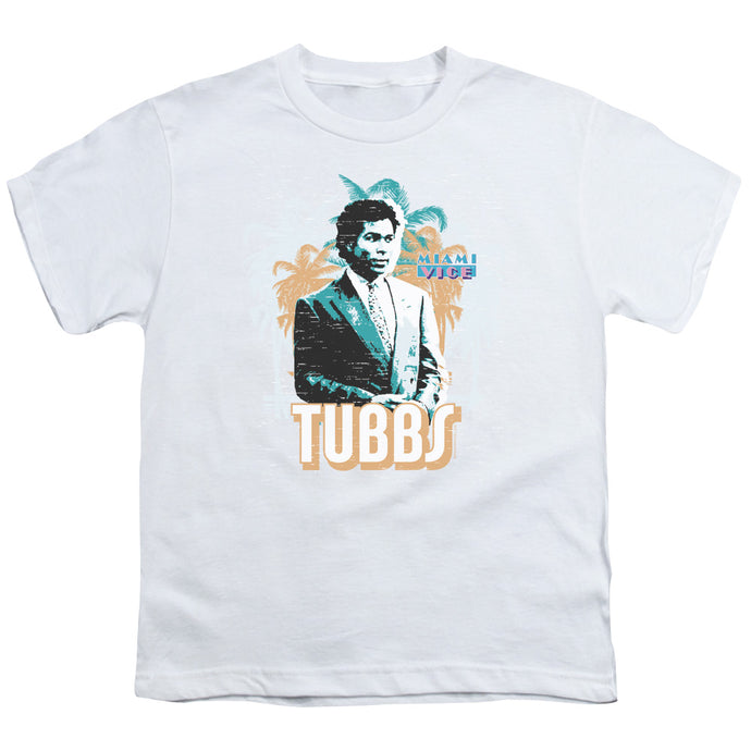 Miami Vice - Tubbs Short Sleeve Youth 18/1 Tee - Special Holiday Gift