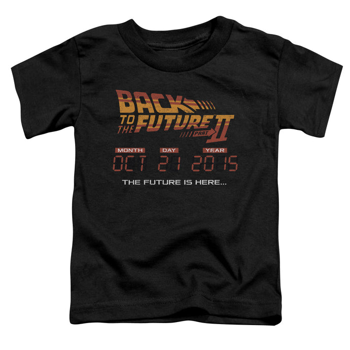 Back To The Future Ii - Future Is Here Short Sleeve Toddler Tee - Special Holiday Gift