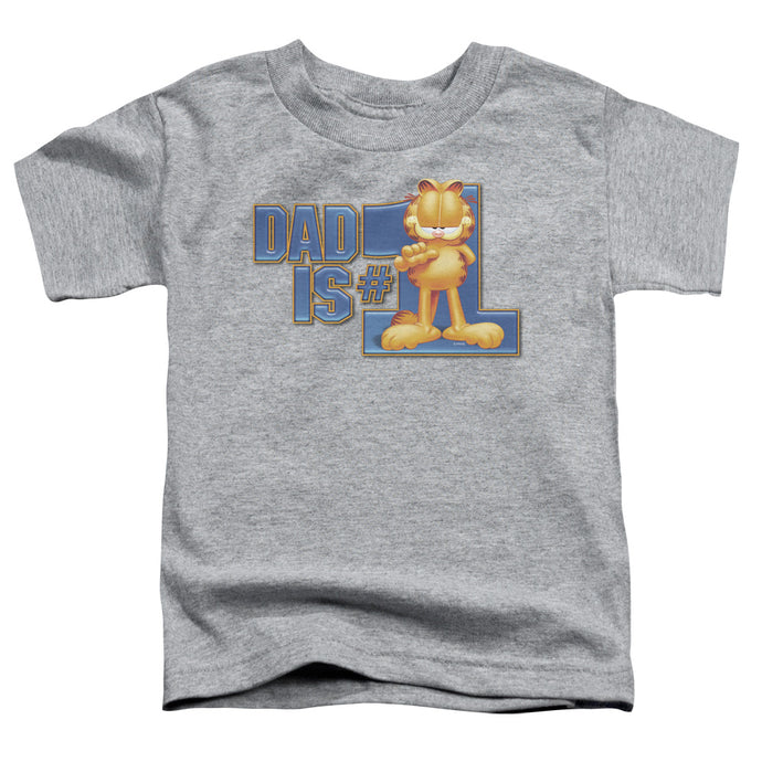 Garfield - Dad Is Number One Short Sleeve Toddler Tee - Special Holiday Gift