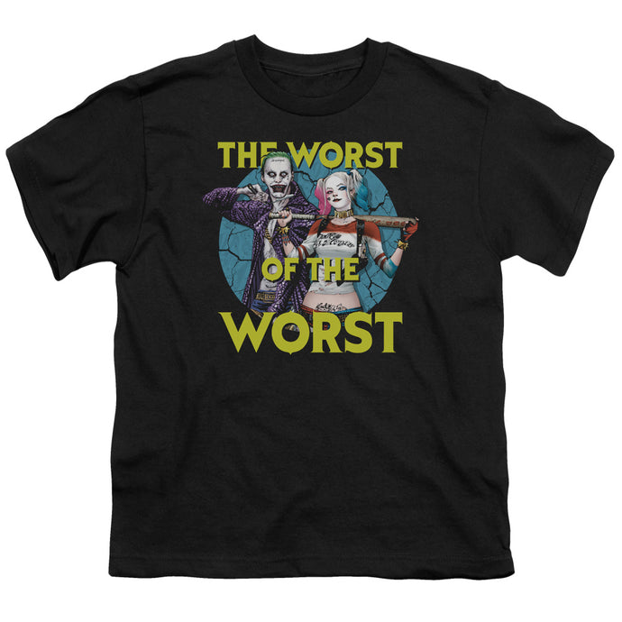 Suicide Squad - Worst Pair Short Sleeve Youth 18/1 Tee - Special Holiday Gift