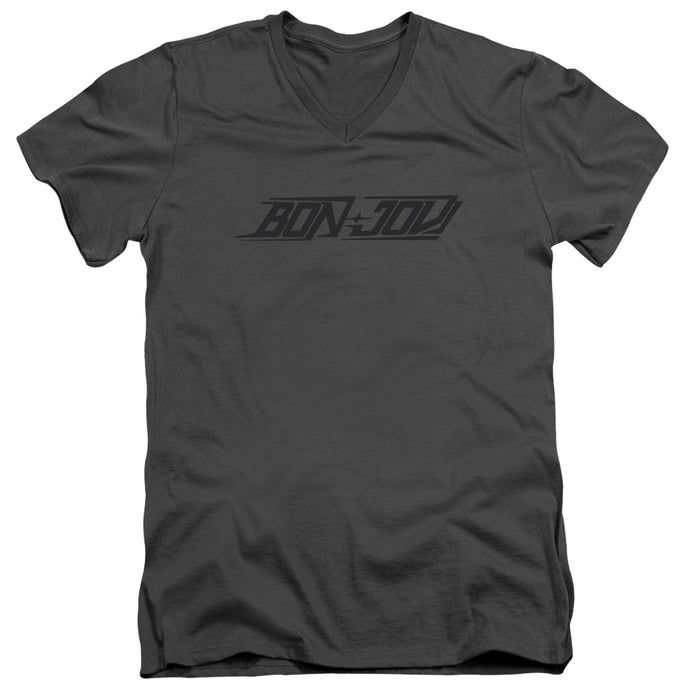 Bon Jovi - New Logo Short Sleeve Adult V Neck Tee - Special Holiday Gift