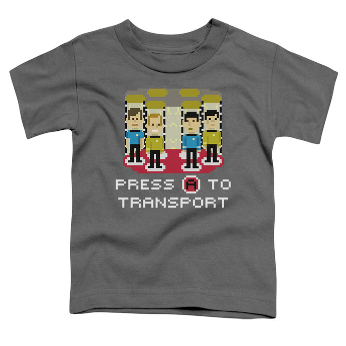 Star Trek - Press A To Transport Short Sleeve Toddler Tee - Special Holiday Gift