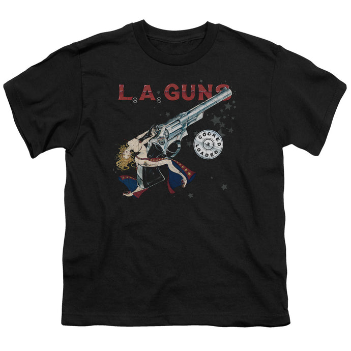 La Guns - Cocked And Loaded Short Sleeve Youth 18/1 Tee - Special Holiday Gift