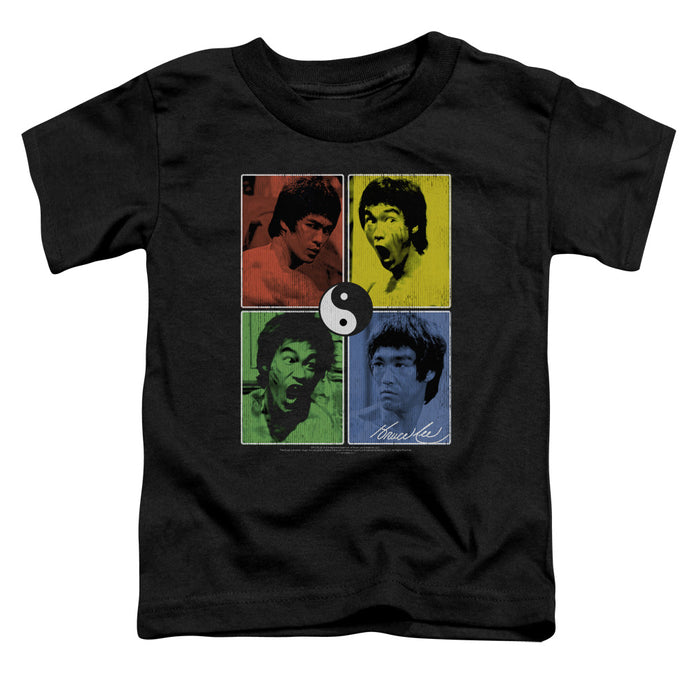 Bruce Lee - Enter Color Block Short Sleeve Toddler Tee - Special Holiday Gift