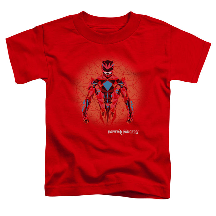 Power Rangers - Red Power Ranger Graphic Short Sleeve Toddler Tee - Special Holiday Gift