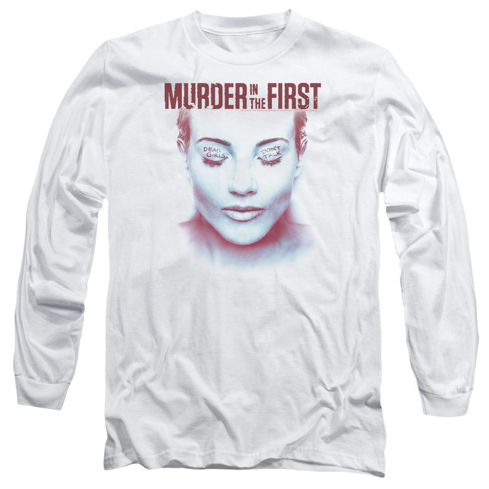 Murder In The First - Don't Talk Long Sleeve Adult 18/1 Tee - Special Holiday Gift