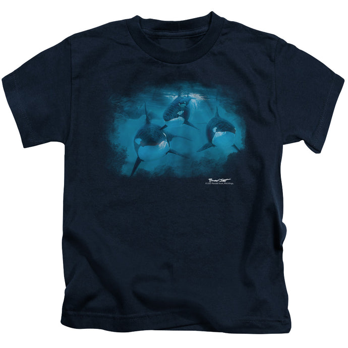 Wildlife - Pod Of Orcas Short Sleeve Juvenile 18/1 Tee - Special Holiday Gift
