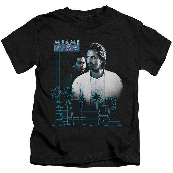 Miami Vice - Looking Out Short Sleeve Juvenile 18/1 Tee - Special Holiday Gift