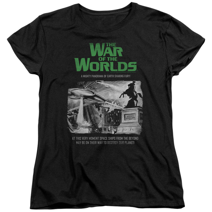 War Of The Worlds - Attack People Poster Short Sleeve Women's Tee - Special Holiday Gift