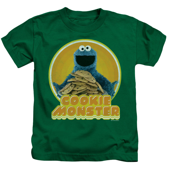 Sesame Street - Cookie Iron On Short Sleeve Juvenile 18/1 Tee - Special Holiday Gift