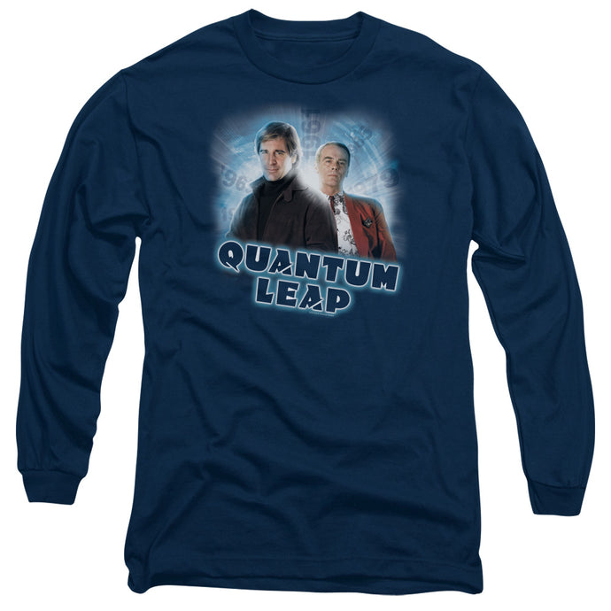 Quantum Leap - Sam And Al Long Sleeve Adult 18/1 Tee - Special Holiday Gift