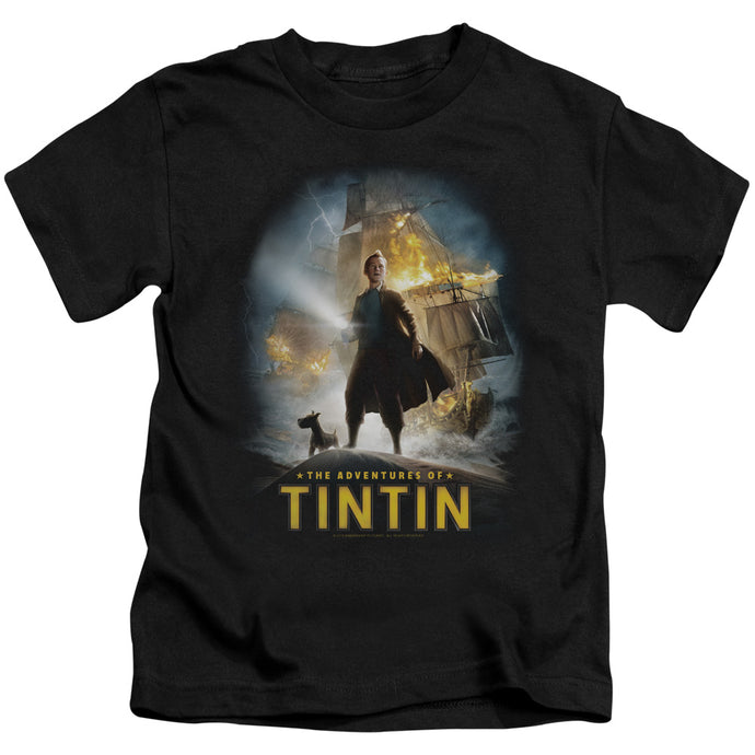 Tintin - Poster Short Sleeve Juvenile 18/1 Tee - Special Holiday Gift