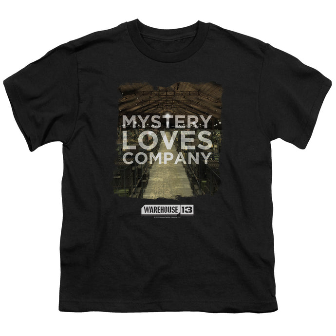 Warehouse 13 - Mystery Loves Short Sleeve Youth 18/1 Tee - Special Holiday Gift