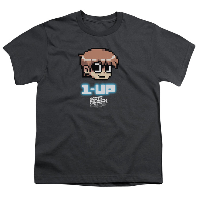Scott Pilgrim - 1 Up Short Sleeve Youth 18/1 Tee - Special Holiday Gift