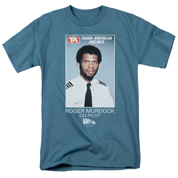 Airplane - Roger Murdock Short Sleeve Adult 18/1 Tee - Special Holiday Gift