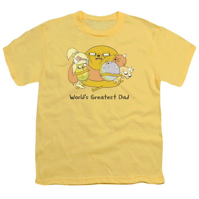 Adventure Time - Worlds Greatest Dad Short Sleeve Youth 18/1 Tee - Special Holiday Gift
