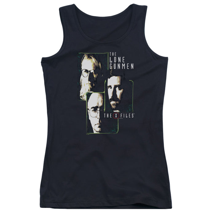 X Files - Lone Gunmen Juniors Tank Top - Special Holiday Gift