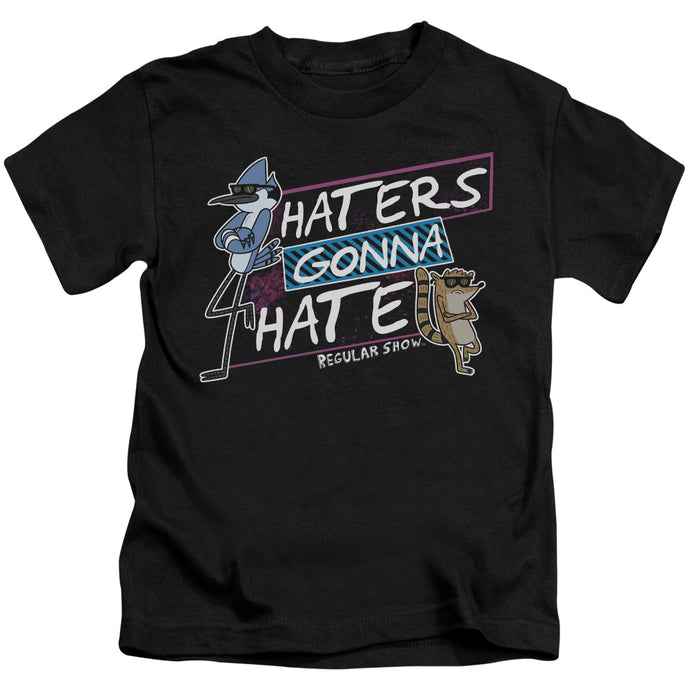 Regular Show - Haters Gonna Hate Short Sleeve Juvenile 18/1 Tee - Special Holiday Gift