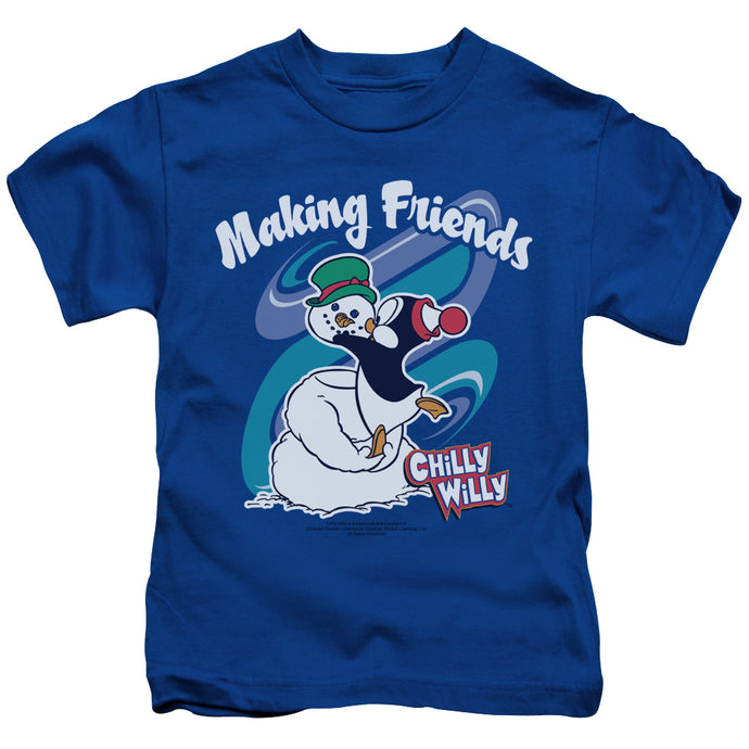 Chilly Willy - Making Friends Short Sleeve Juvenile 18/1 Tee - Special Holiday Gift