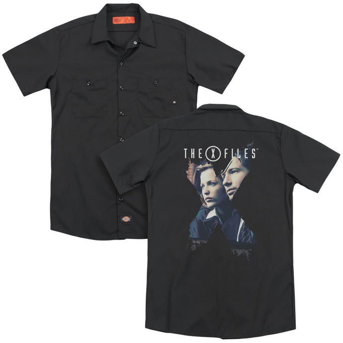X Files - X Agents(Back Print) Adult Work Shirt - Special Holiday Gift