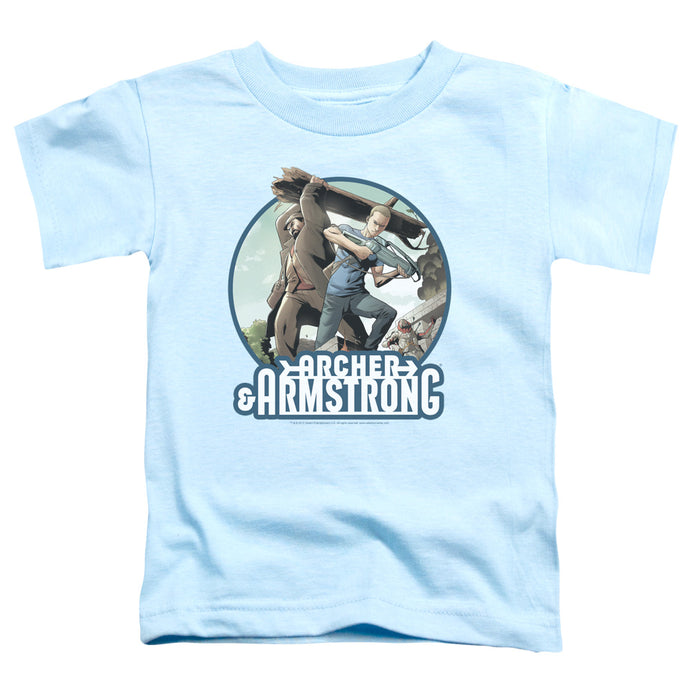 Archer & Armstrong - Trunk And Crossbow Short Sleeve Toddler Tee - Special Holiday Gift