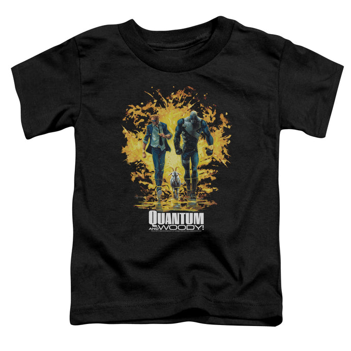 Quantum And Woody - Explosion Short Sleeve Toddler Tee - Special Holiday Gift