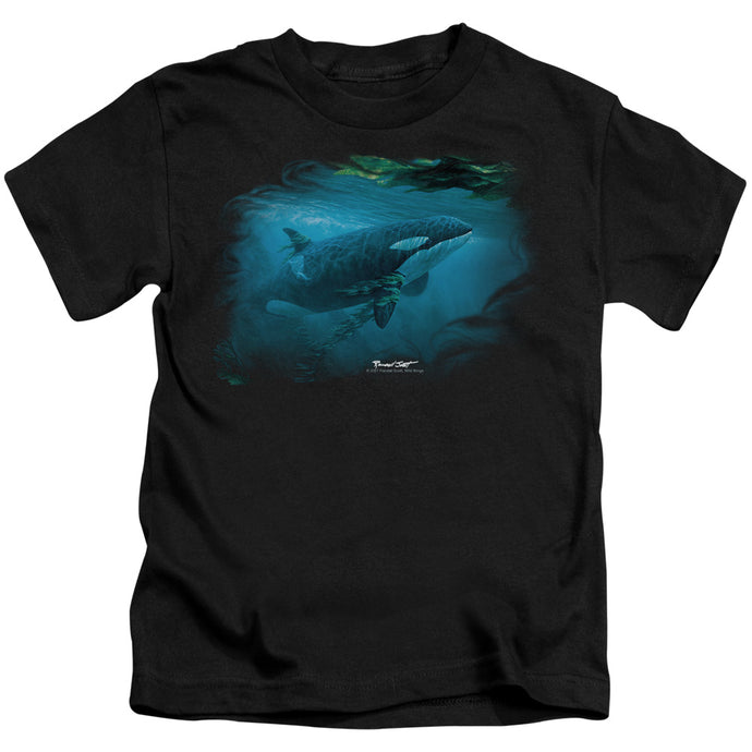 Wildlife - Pursuit Thru The Kelp Orca Short Sleeve Juvenile 18/1 Tee - Special Holiday Gift