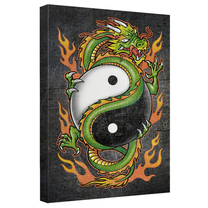 Yin Yang Dragon Canvas Wall Art With Back Board - Special Holiday Gift