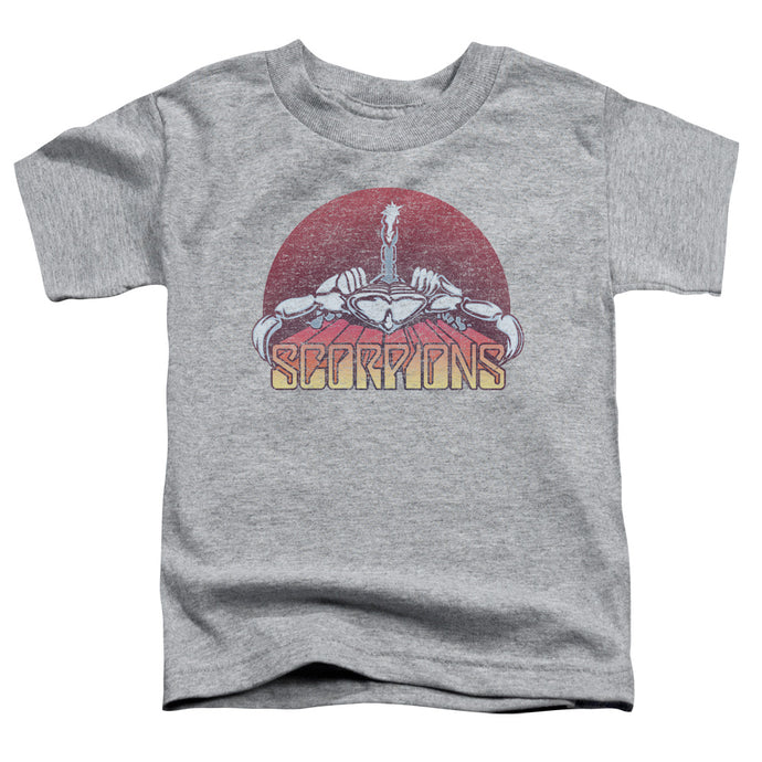 Scorpions - Scorpions Color Logo Distressed Short Sleeve Toddler Tee - Special Holiday Gift