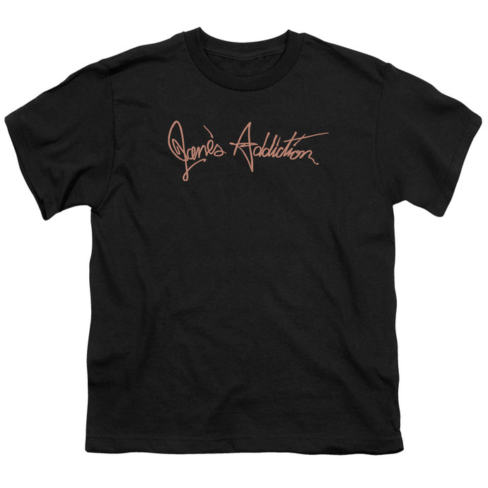 Janes Addiction - Script Logo Short Sleeve Youth 18/1 Tee - Special Holiday Gift