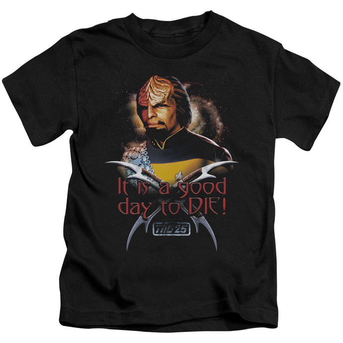 Star Trek - Good Day To Die Short Sleeve Juvenile 18/1 Tee - Special Holiday Gift