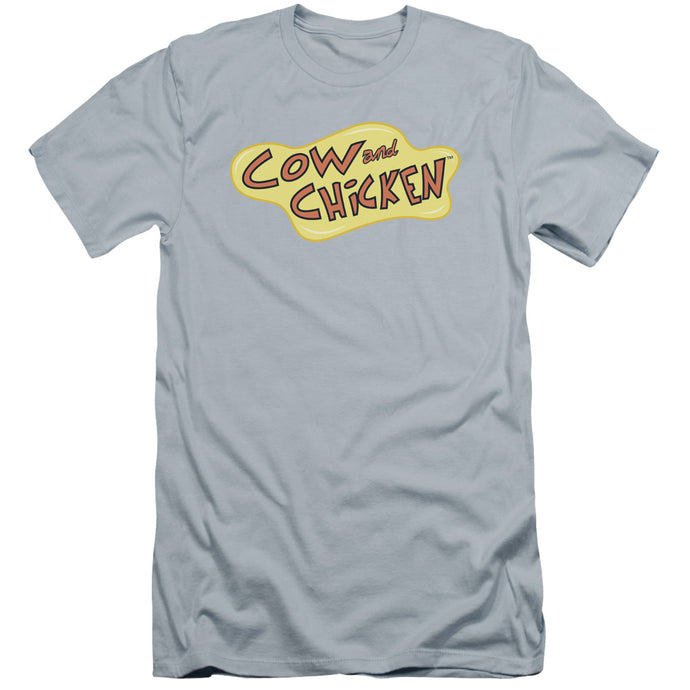 Cow And Chicken - Cow Chicken Logo Premium Canvas Adult Slim Fit 30/1 - Special Holiday Gift