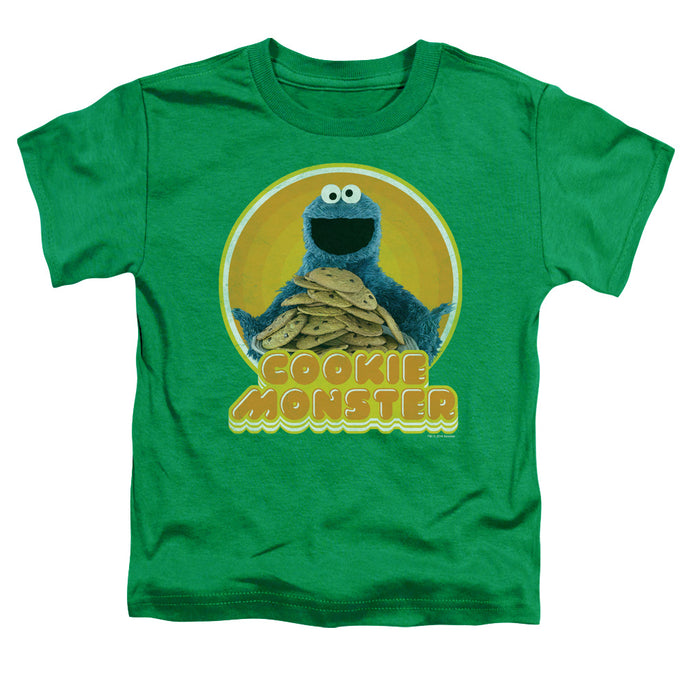 Sesame Street - Cookie Iron On Short Sleeve Toddler Tee - Special Holiday Gift