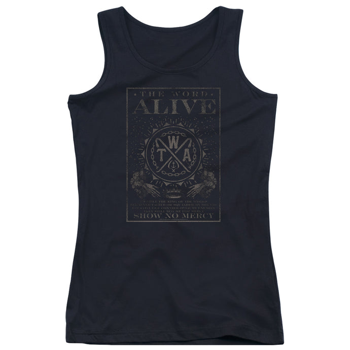 The Word Alive - Show No Mercy Juniors Tank Top - Special Holiday Gift
